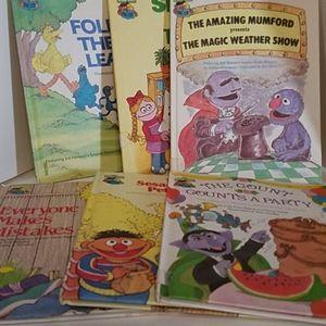 6 Sesame Street Book Club 1980's Children's Books